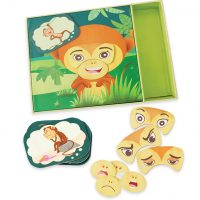 Monkey expressions - show what you feel and why - social emotional game - special needs - asd