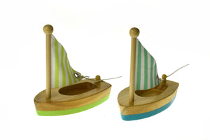 CALM & BREEZY WOODEN SMALL SAILBOAT