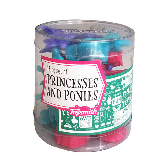 Princess and ponies - counters or figurines