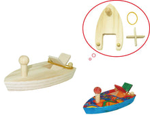 BUNGEE POWER wooden DIY BOAT