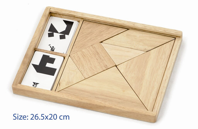 Natural wood Tangram