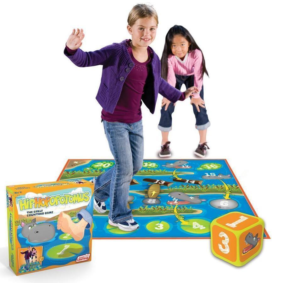 Hiphopopotamus - Preschooler floor counting  game. Large mat with inflatable dice