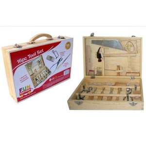 Real Children's Wooden tool set - carpentry tools for kids