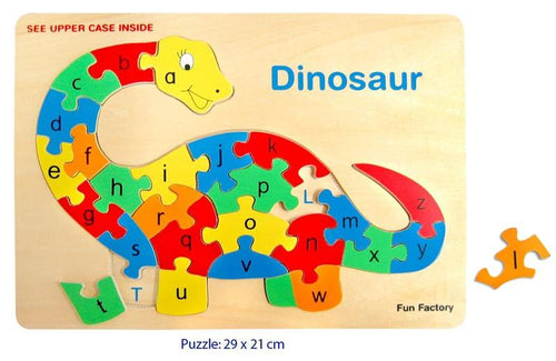 Dinosaur letter matching puzzle