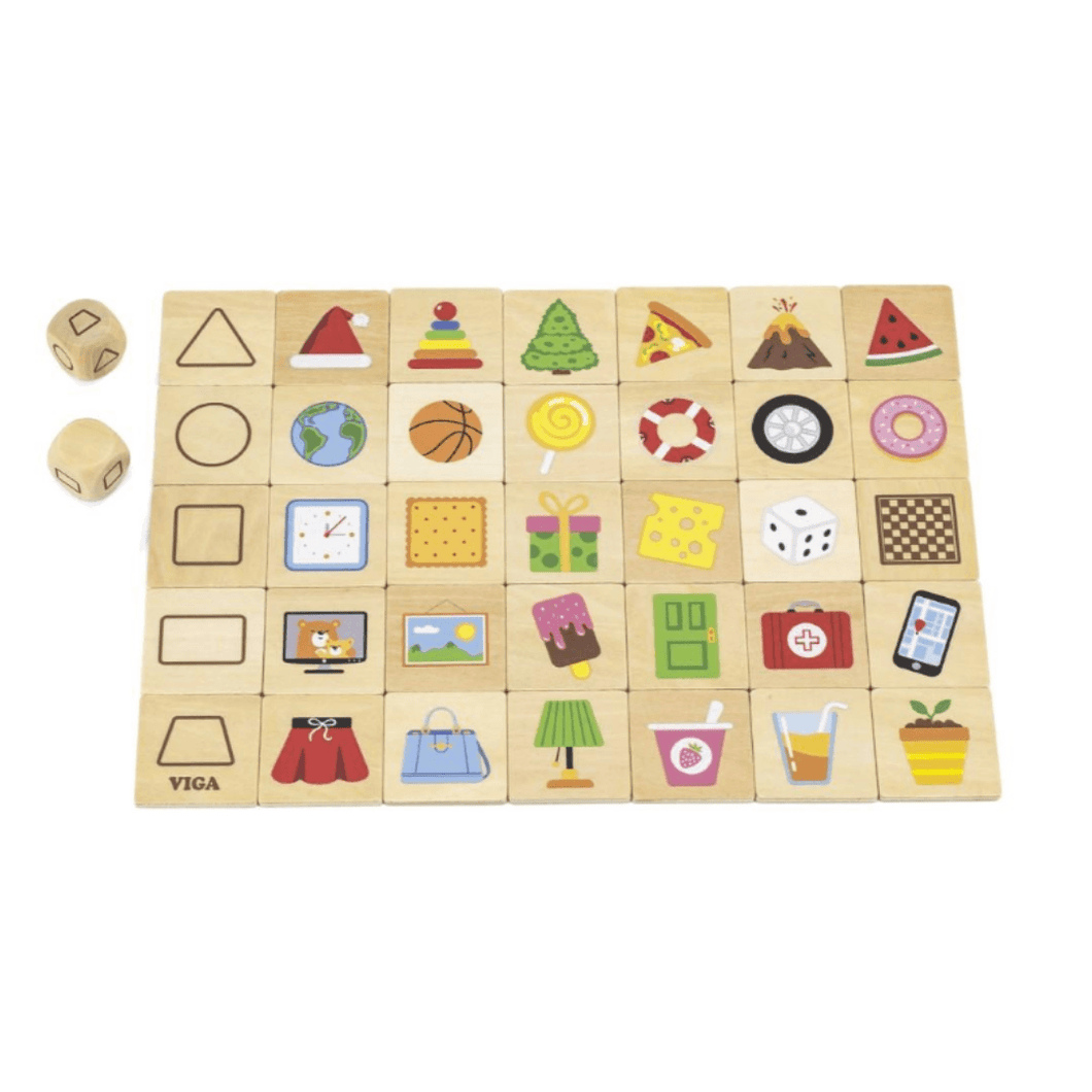 Wooden shape game puzzle
