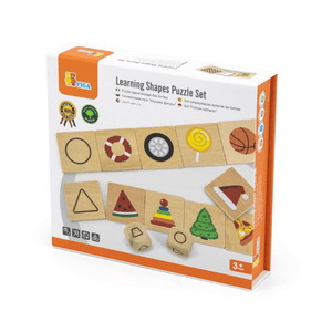 Learning shapes puzzle game set