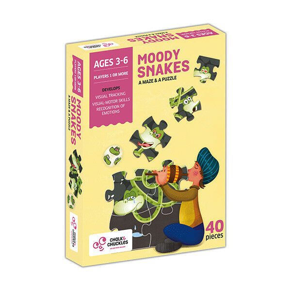 Moody Snakes Maze and puzzle game for ages 3 - 6