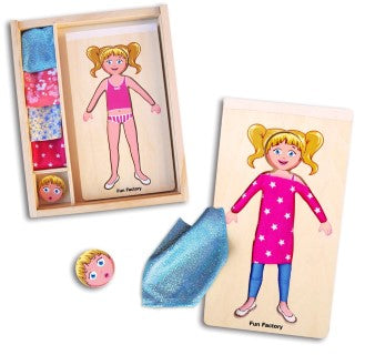 DIY Dress up doll - fabric texture design fun