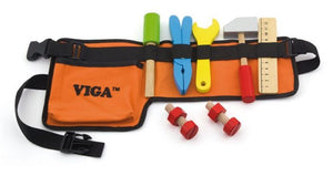 Tool belt and wooden tool set