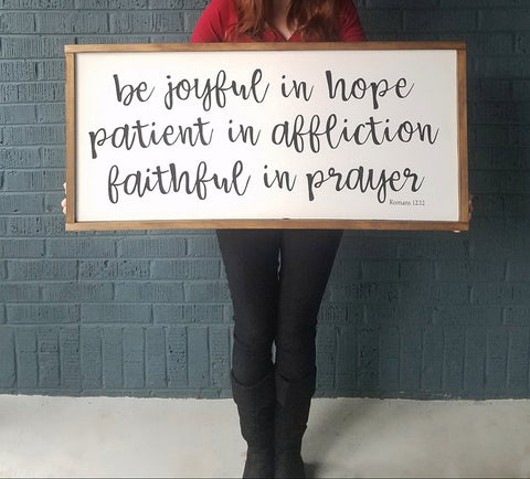 Be Joyful - Large Framed Sign