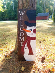 Snowman Welcome Sign