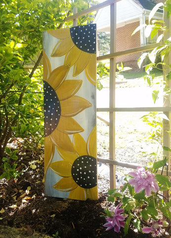 Polka Dot Sunflower Porch Sign