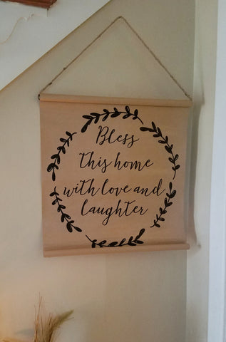 Bless This Home | Scroll Wall Decor