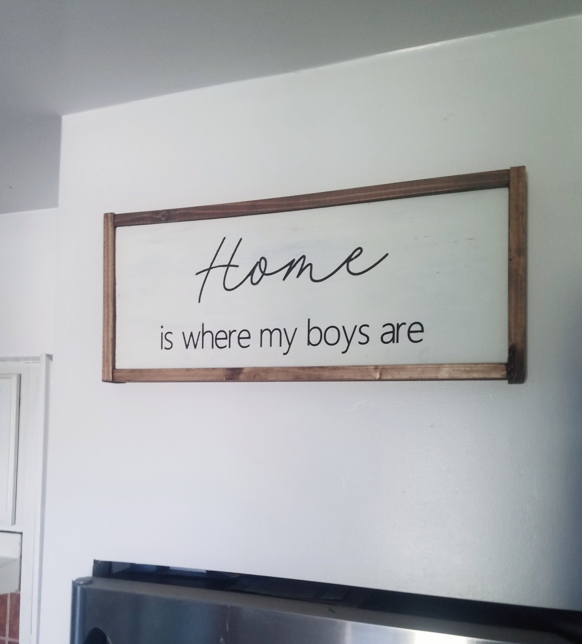 Home is where my boys are - Mom of Boys Framed Sign
