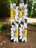 5ft Daisy Welcome Sign