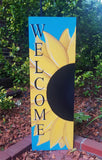 3ft Sunflower Welcome Sign w/ Blue Background