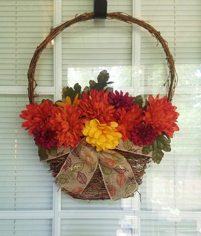 Fall Door Hanging Basket