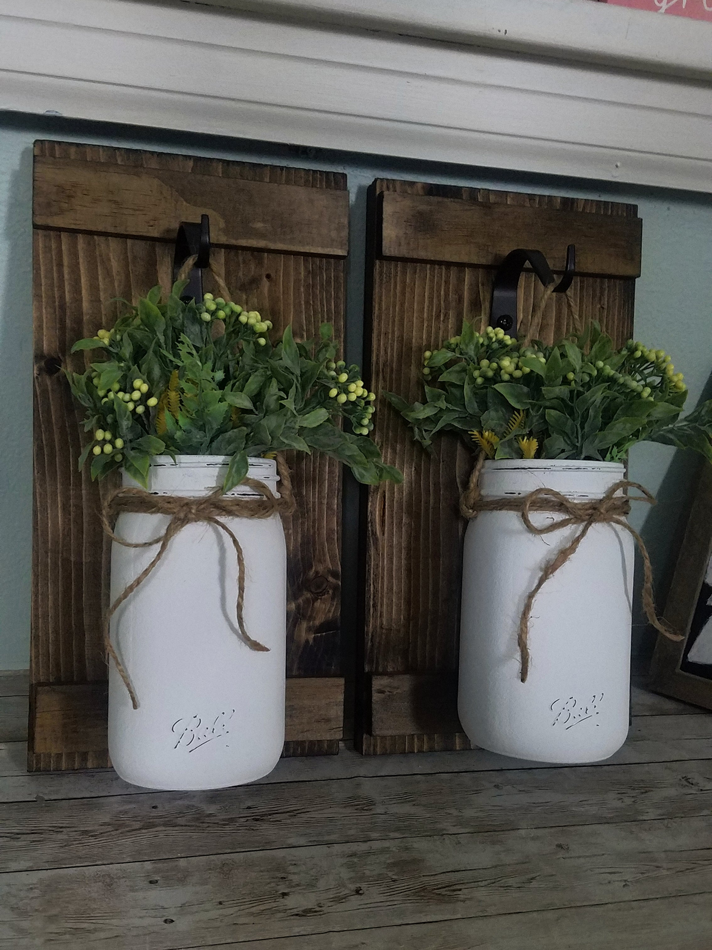 Hanging Mason Jar Sconces | Set of 2