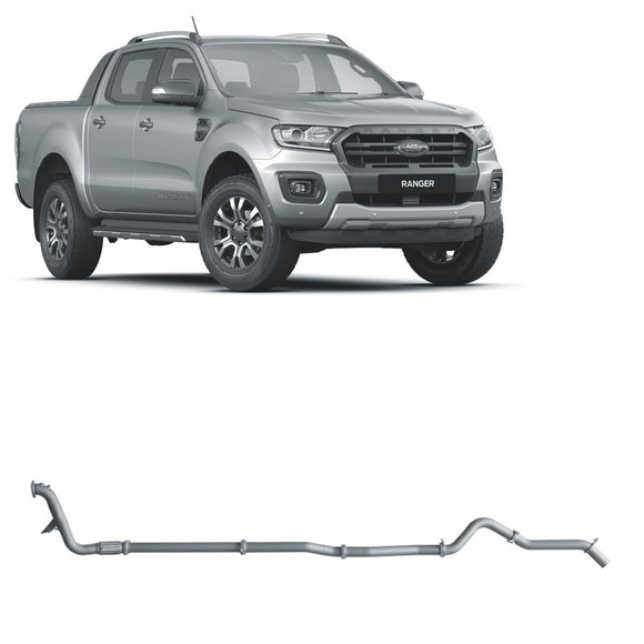 Redback 4x4 Extreme Duty Exhaust to suit Ford Ranger (10/2018 - on)