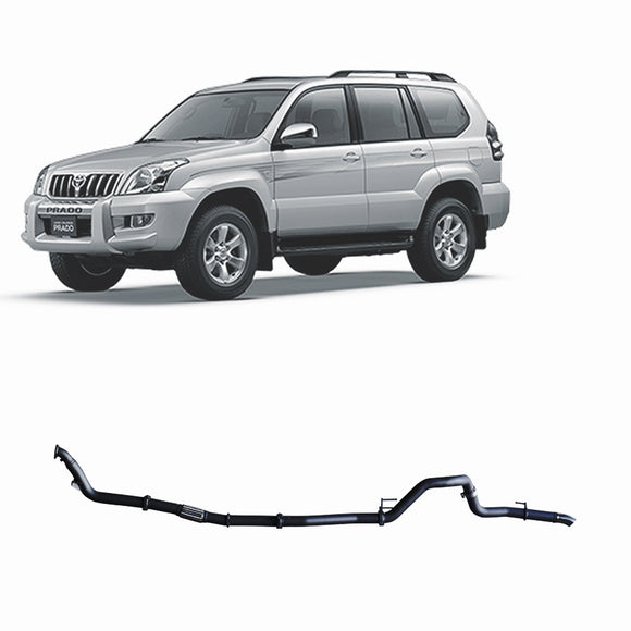 Redback 4x4 Extreme Duty Performance Exhaust to suit Toyota Prado (09/2002 - 02/2007)