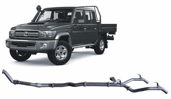 Redback 4x4 Extreme Duty Exhaust to suit Toyota Landcruiser (10/2012 - 10/2016)