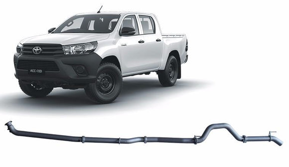 Redback 4x4 Extreme Duty Exhaust to suit Toyota Hilux (01/2015 - on)