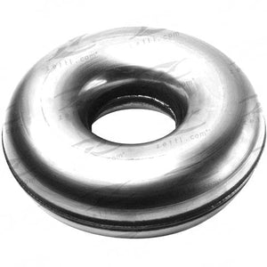 "Mandrel Donut - 63mm (2-1/2"" Inch), Gauge 12g (2.0mm), Alloy, Half"