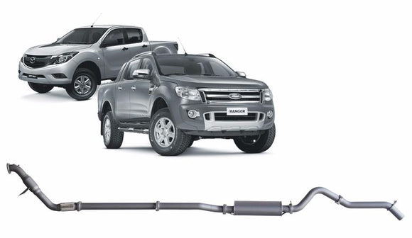 Redback 4x4 Extreme Duty Exhaust to suit Ford Ranger (01/2011 - 09/2016), Mazda BT-50 (11/2011 - 06/2016)