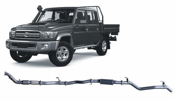 Redback Extreme Duty 4X4 Performance Exhaust to suit Toyota Landcruiser (01/2012 - 10/2016)