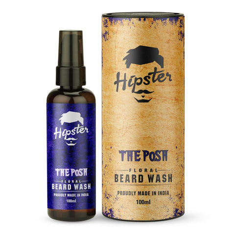 Hipster The Posh Floral Beard Wash 100ml - Beespot.in