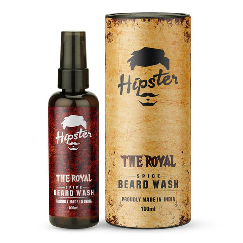 Hipster The Royal Spice Beard Wash, 100ml - Beespot.in