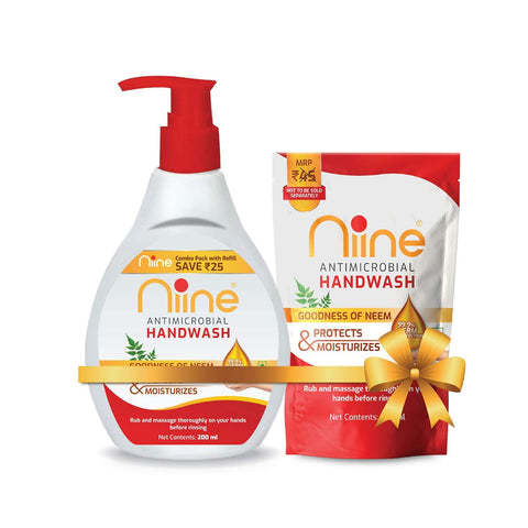 NIINE HANDWASH 200ml with Refill 180ml (Pack of 3)