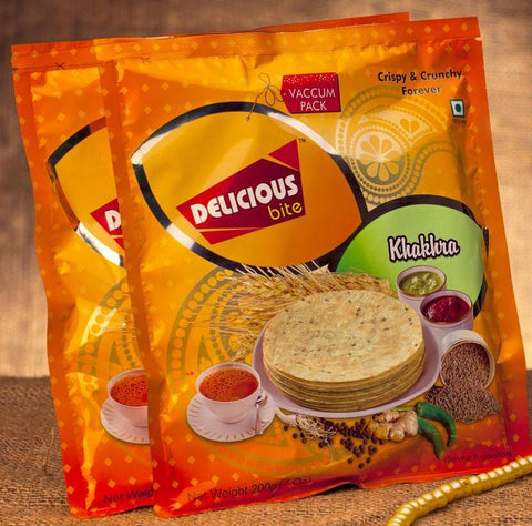 DELICIOUS BITE KHAKHRA (PACK OF 4) - Beespot.in