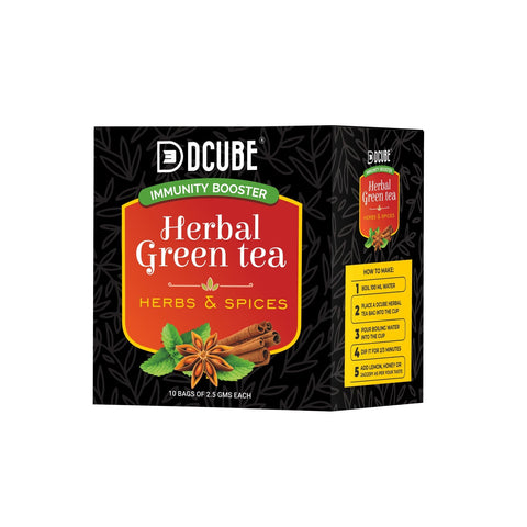 Dcube Herbal Green Tea Herbs & Spices (Pack of 2)