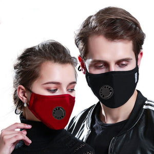 Reusable Cotton Mouth Mask Cover Respirator PM2.5 Anti-Dust Face Mask + 2pcs Masks Filter