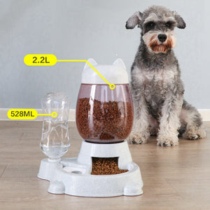 2.2L Pet Automatic Feeder Dog Cat Drinking Bowl For Dogs Water Drinking Feeder Cat Feeding Large Capacity Dispenser