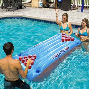 24 Cup Holder Inflatable Beer Pong Table