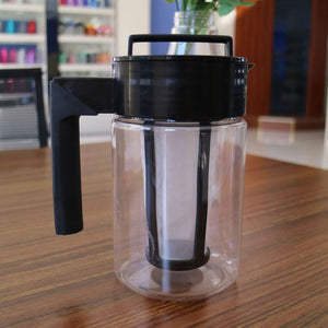 900ML Cold Brew Iced Coffee Maker With Airtight Seal Silicone Handle Coffee Kettle Non-slip silicone handle Coffee