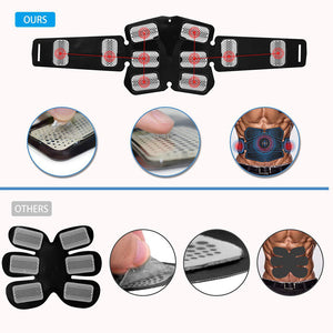 Electric Abdominal Muscle Stimulator Slimming Massage Unisex Trainer EMS Exercise Muscle Body Training