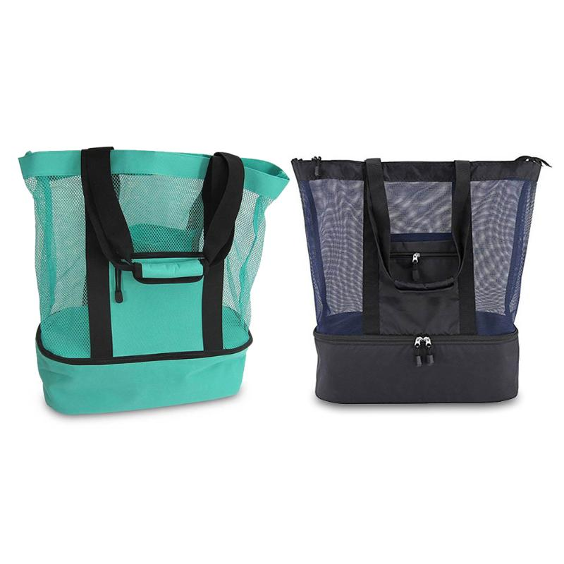 Foldable Large Capacity Outdoor Mesh Picnic Beach Bags