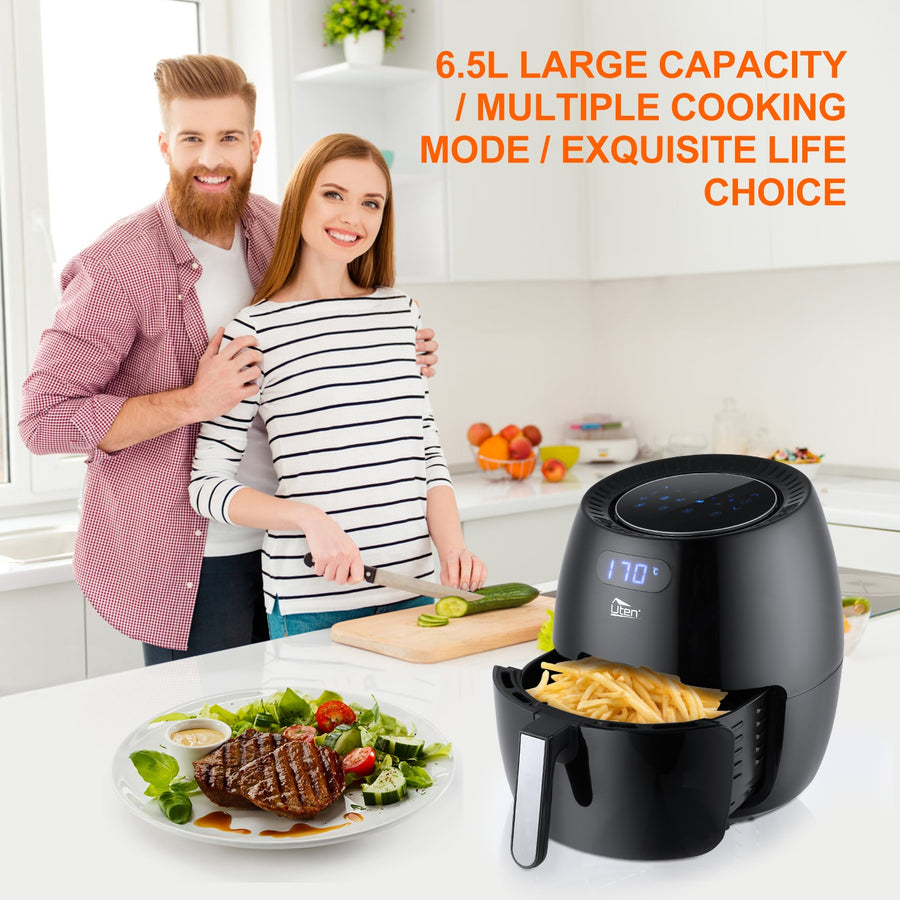 Air Fryer Electric Deep Fryer High-speed Hot A81.34on Cooker Oven Low Fat Health Pan 6.5L