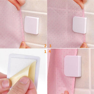 2pcs High Quality Shower Curtain Clips Anti Splash Spill Bath Guard