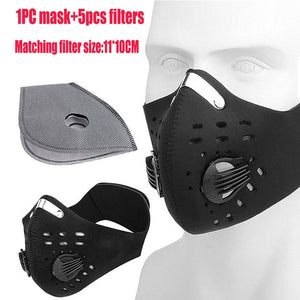 Anti-Fog & Anti-Pollution, PM2.5 Activated Carbon Washable N95 Training Mask