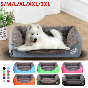 Large Pet Sofa Dog Beds Waterproof Bottom Ultra Soft Fleece Warm Pet Bed House