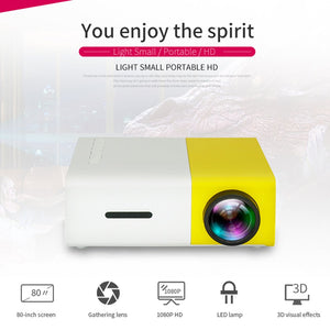 YG300 LED Projector 600 lumen 3.5mm Audio 320x240 Pixels YG-300 HDMI USB Mini Projector Home Theater Cinema LCD Proyector Beamer