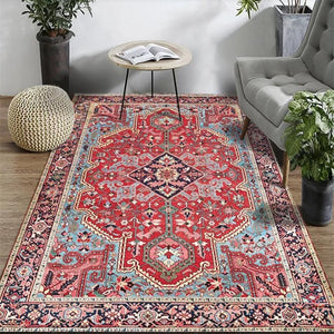 Persian Style Large Area Rug High Quality Abstract Flower Art Carpets For Living Room Bedroom Anti-Slip Floor Mat Kitchen Tapete