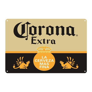 Corona Extra Vintage Metal Tin Signs Home Bar Pub Garage Gas Station Decor Plates Man Cave Wall Sticker