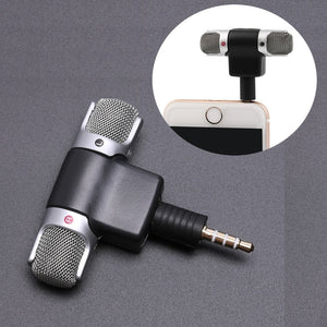 Mini 3.5mm Jack Microphone Stereo Mic For Recording Mobile Phone Studio Interview Microphone 4 pin For smartphone