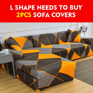 L Shape Spandex Sofa Covers for Living Room Stretch Sectional Corner Sofa Couch Cover Slipcovers,L Shape needs to buy 2pcs