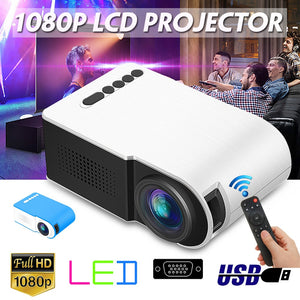7000 lumens Mini Projector Portable Full HD 3D Projector TFT LED LCD Home Theater Entertainment Projectors Video Multi-media